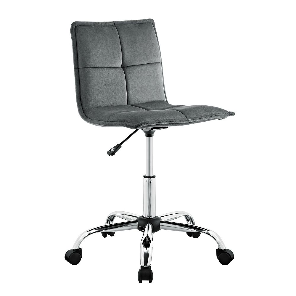 Linon Home Décor Products Boone Gray Office Chair