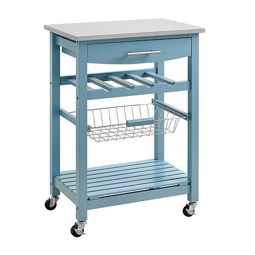 Clarke Blue Kitchen Cart