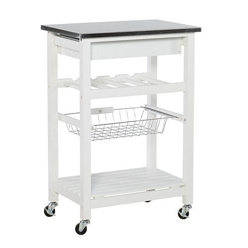 Clarke White Kitchen Cart