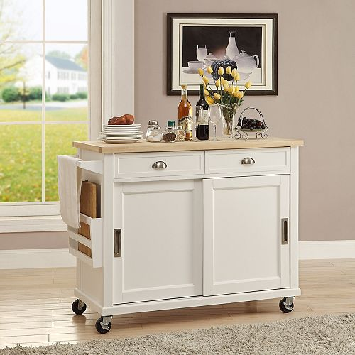 Linon Home Décor Products Grant Kitchen Cart