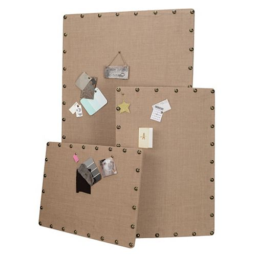 Linon Home Décor Products Small Burlap Corkboard