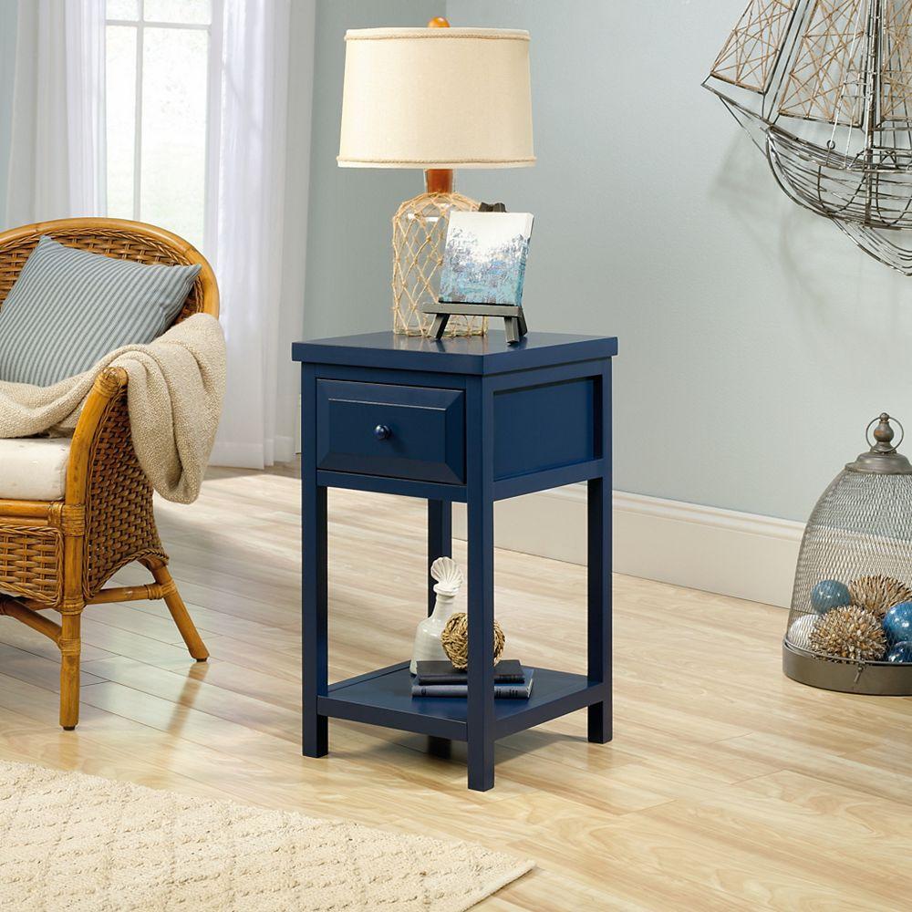 Sauder Table d'Appoint Sauder Cottage Road, Bleu Indigo