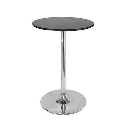 40 inch Bar table with rounded top and fixed height - Black - 1 Unit