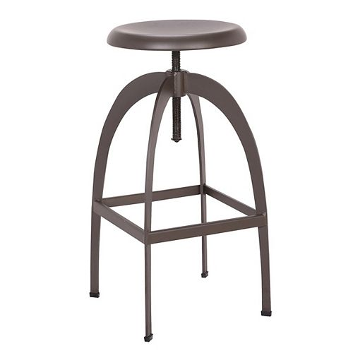Swivel adjustable bar and counter height backless metal stool - 1 Unit