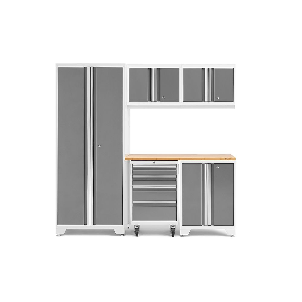 NewAge Products Inc. Bold Series White 6-Piece Cabinet Set