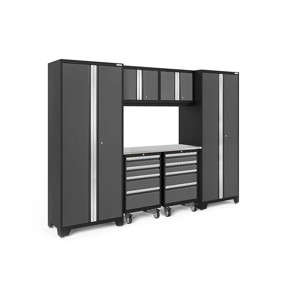 NewAge Products Bold Series Grey 7-Piece Cabinet Set