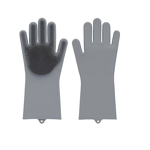 Home Master Multifunctional Silicone Gloves, Grey