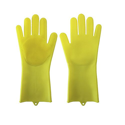 Home Master Multifunctional Silicone Gloves, Yellow