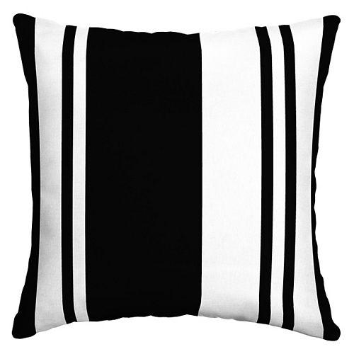 Brampton Stripe Outdoor Square Throw Pillow