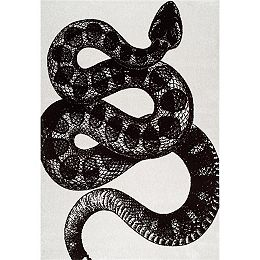 Thomas Paul Power loomed Serpent Black and White 5 ft. x 8 ft. Indoor Area Rug