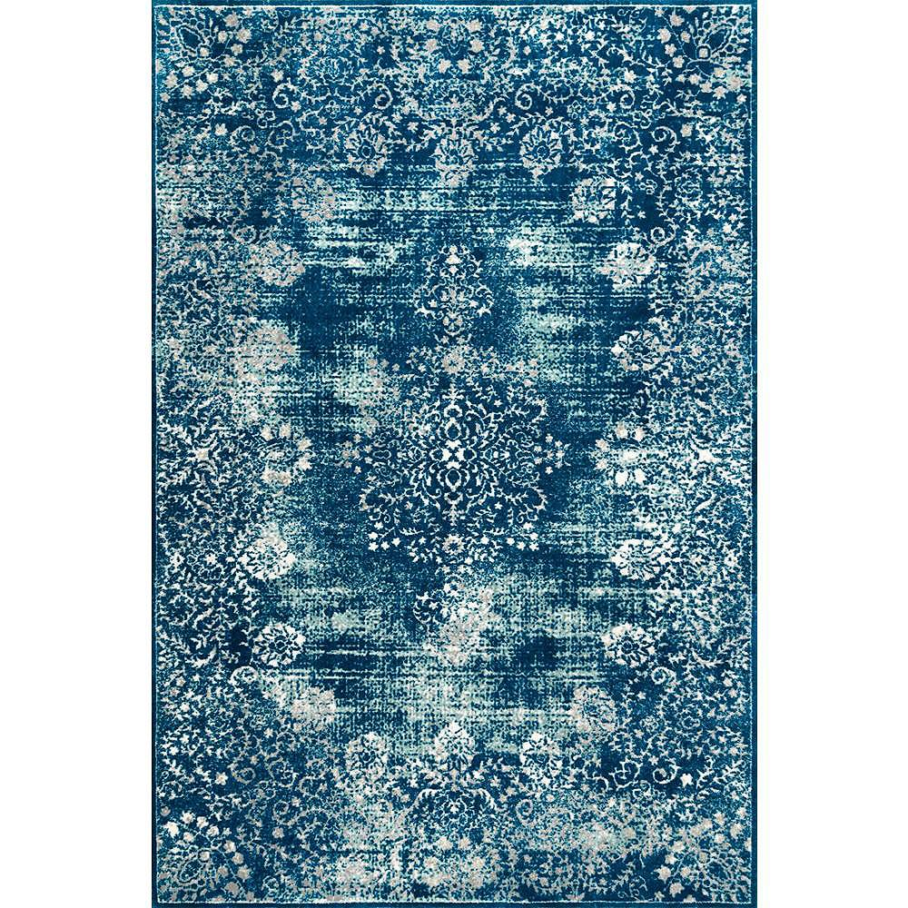 nuLOOM Tapis Vintage Corene Bleu 5 ft. x 8 ft.