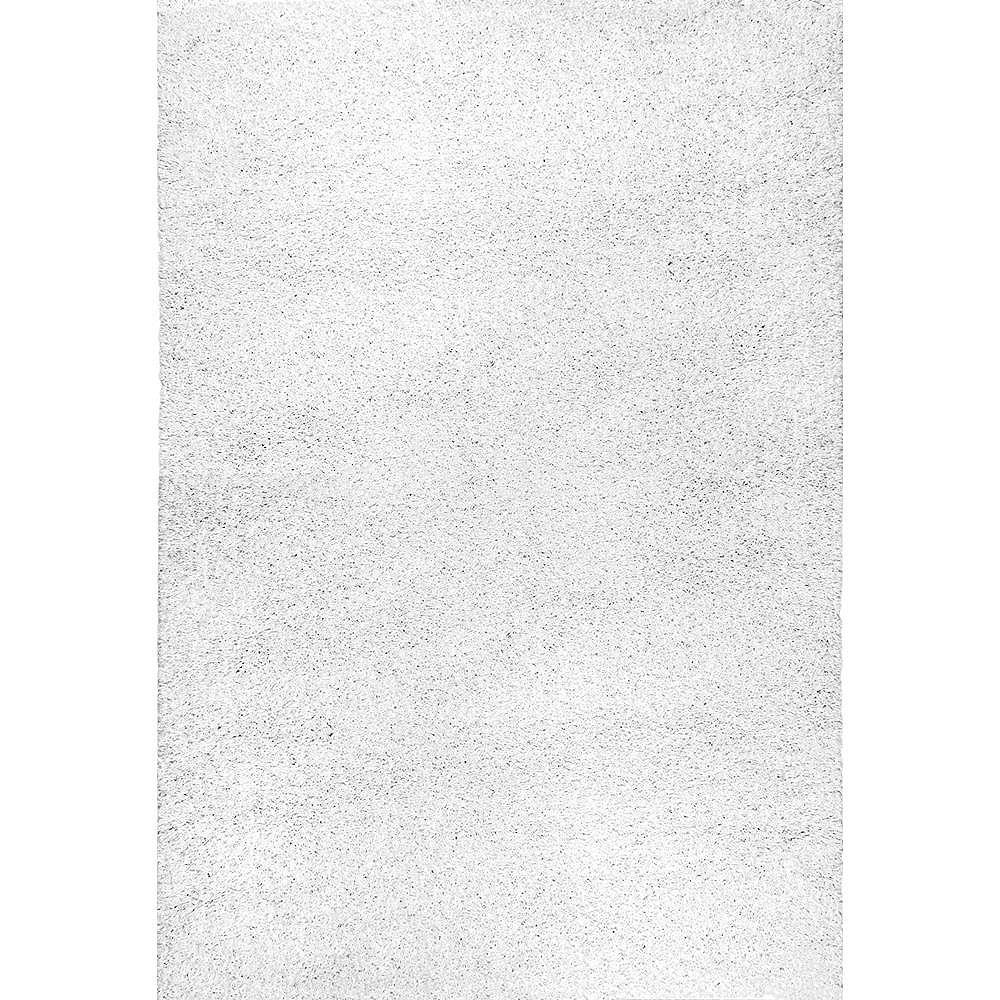 nuLOOM Arden Homely Shag White 4 ft. x 6 ft. Indoor Area Rug