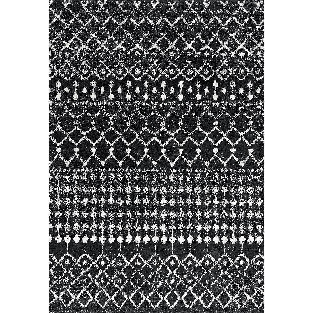 nuLOOM Moroccan Barbara Black 4 ft. x 6 ft. Indoor Area Rug