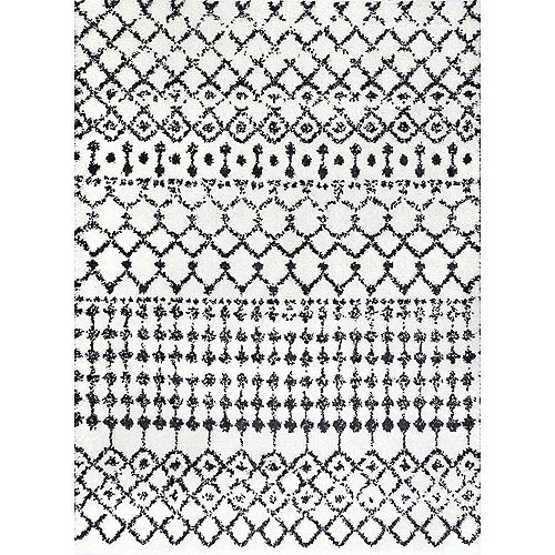 nuLOOM Moroccan Barbara Ivory 5 ft. 3-inch x 7 ft. 7-inch Indoor Area Rug