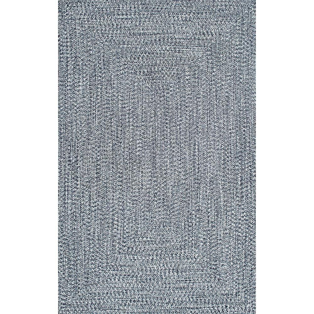 nuLOOM Tapis d'Intérieur/Extérieur Tressé Lefebvre Bleu Clair 5 ft. x 8 ft.