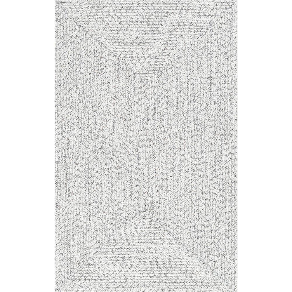 nuLOOM Braided Lefebvre Indoor/Outdoor Ivory 4 ft. x 6 ft. Indoor/Outdoor Area Rug