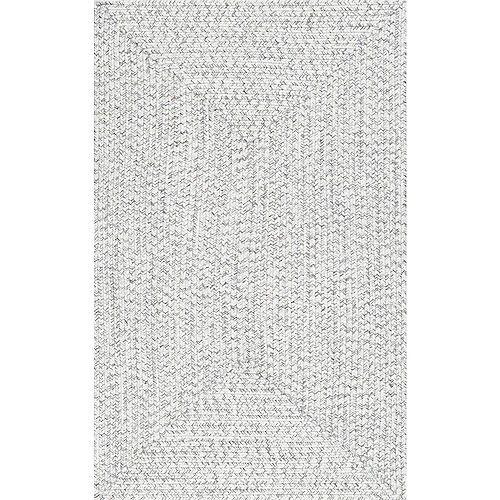 Braided Lefebvre Indoor/Outdoor Ivory 5 ft. x 8 ft. Indoor/Outdoor Area Rug