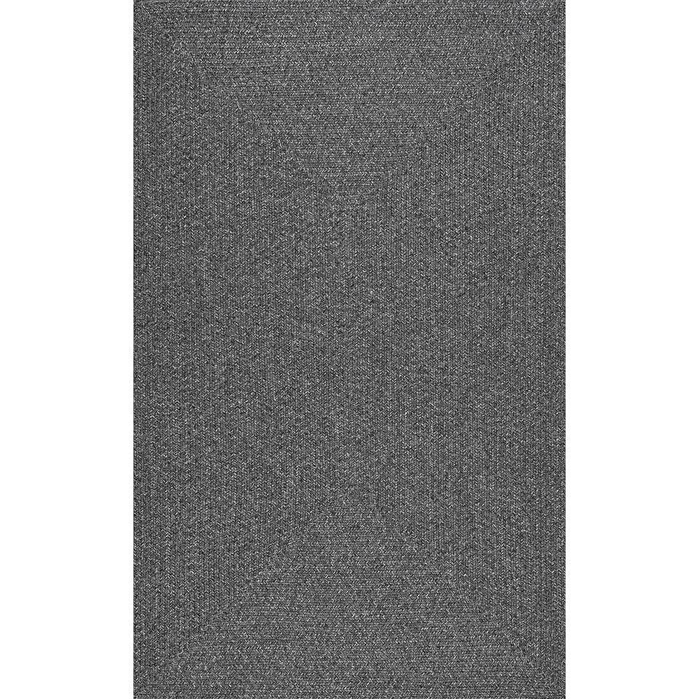 nuLOOM Tapis d'Intérieur/Extérieur Tressé Lefebvre Charbon 8 ft. 6 in. x 11 ft. 6 in.