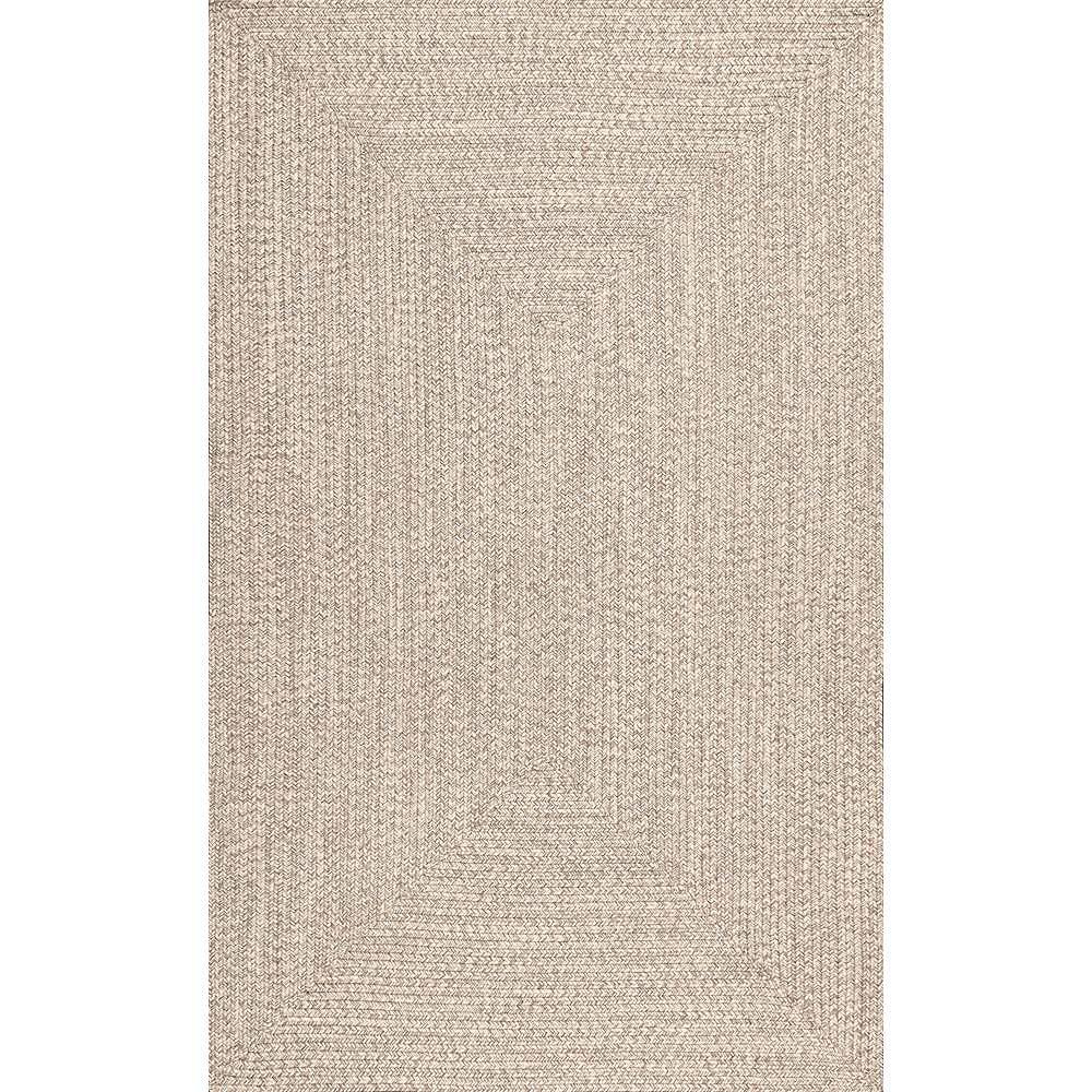 nuLOOM Braided Lefebvre Indoor/Outdoor Tan 6 ft. x 9 ft. Indoor/Outdoor Area Rug