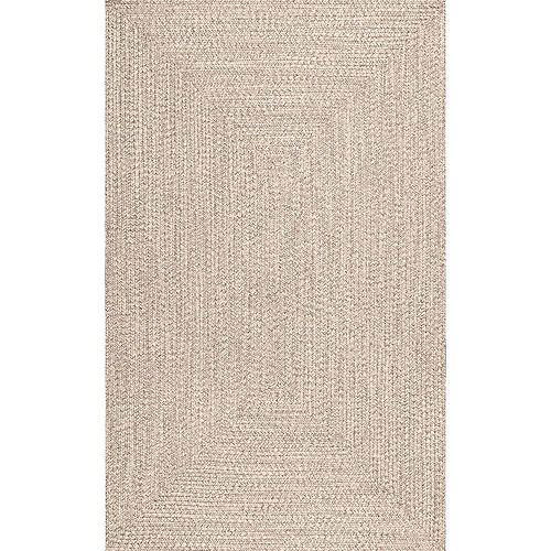 Braided Lefebvre Indoor/Outdoor Tan 5 ft. x 8 ft. Indoor/Outdoor Area Rug