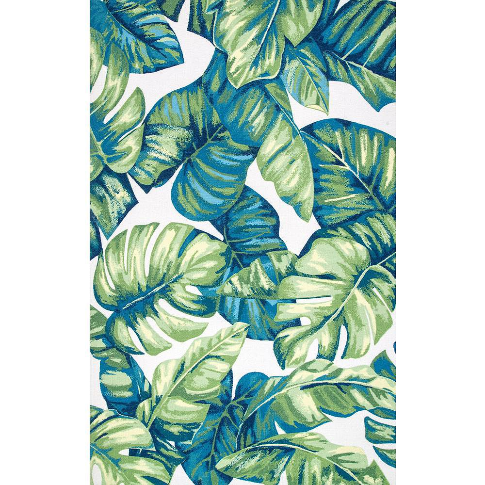 nuLOOM Contemporary Floral Lisa Multi 6 ft. x 9 ft. Indoor/Outdoor Area Rug