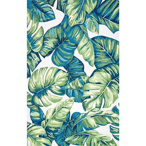 Contemporary Floral Lisa Multi 8 ft. x 10 ft. Indoor/Outdoor Area Rug
