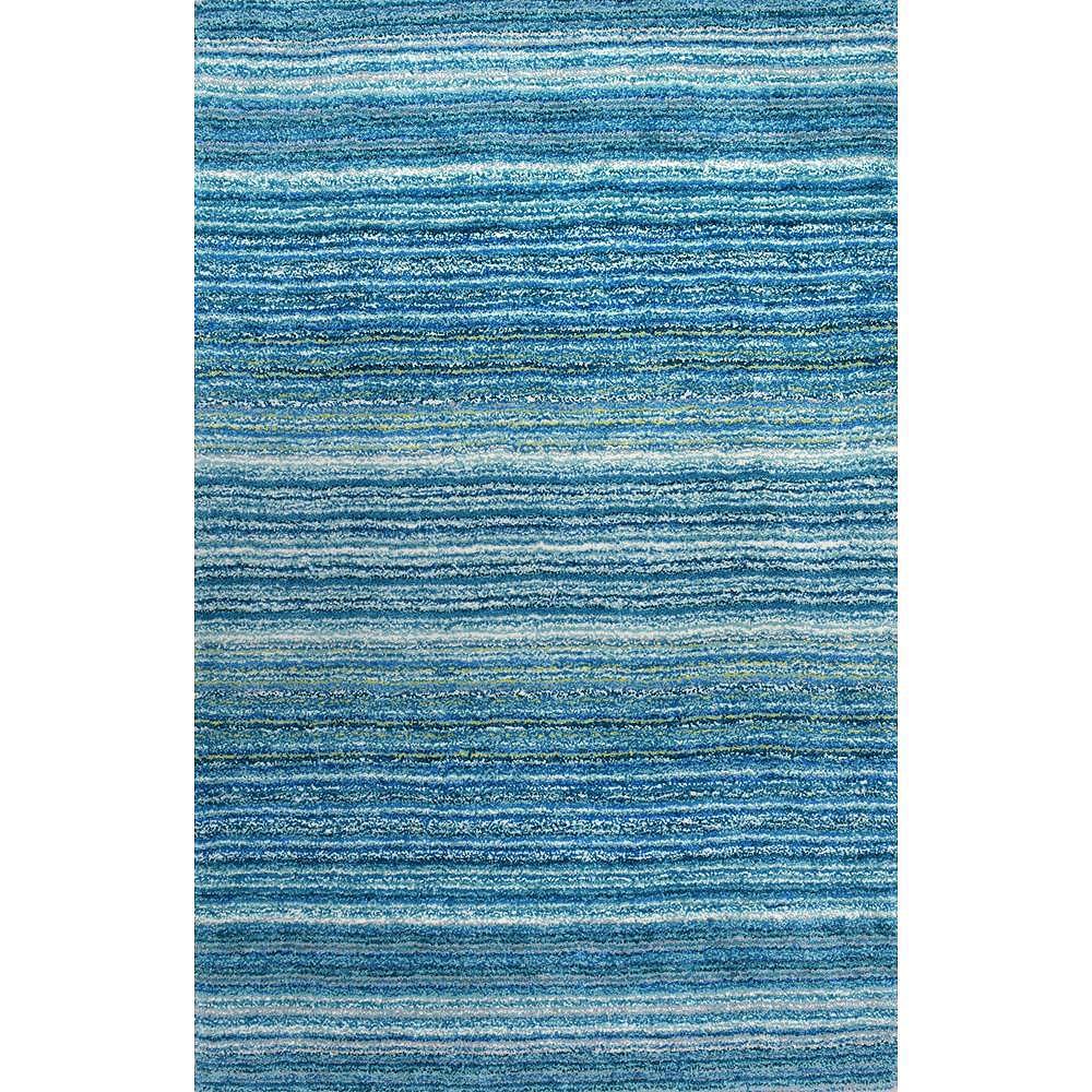 nuLOOM Tapis Hirsute Tufté Main Classie Bleu Ciel 6 ft. x 9 ft.