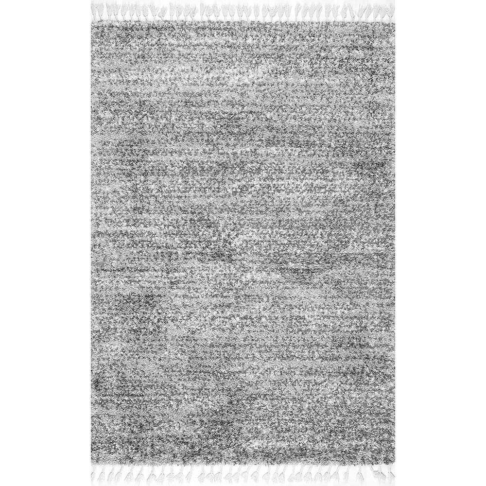 nuLOOM Contemporary Brooke Shag Gray 4 ft. x 6 ft. Indoor Area Rug