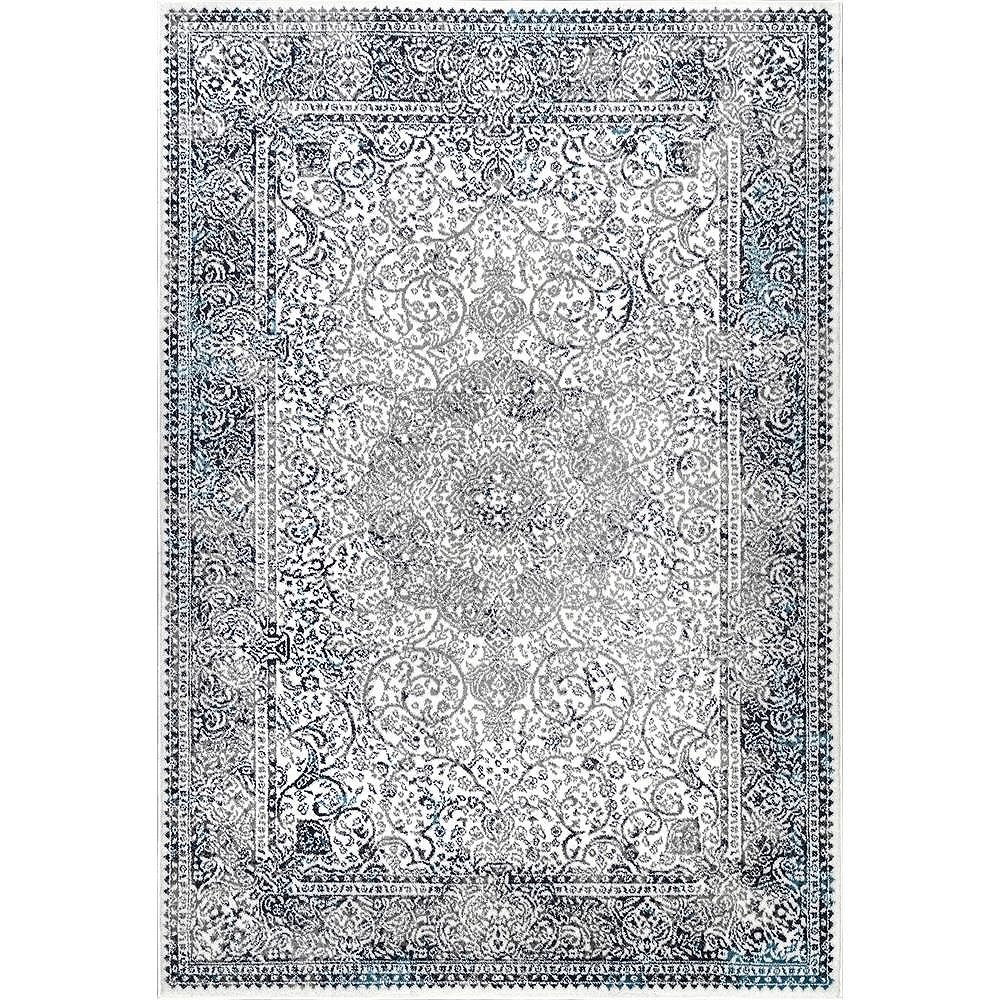 nuLOOM Transitional Persian Delores Blue 8 ft. x 10 ft. Indoor Area Rug