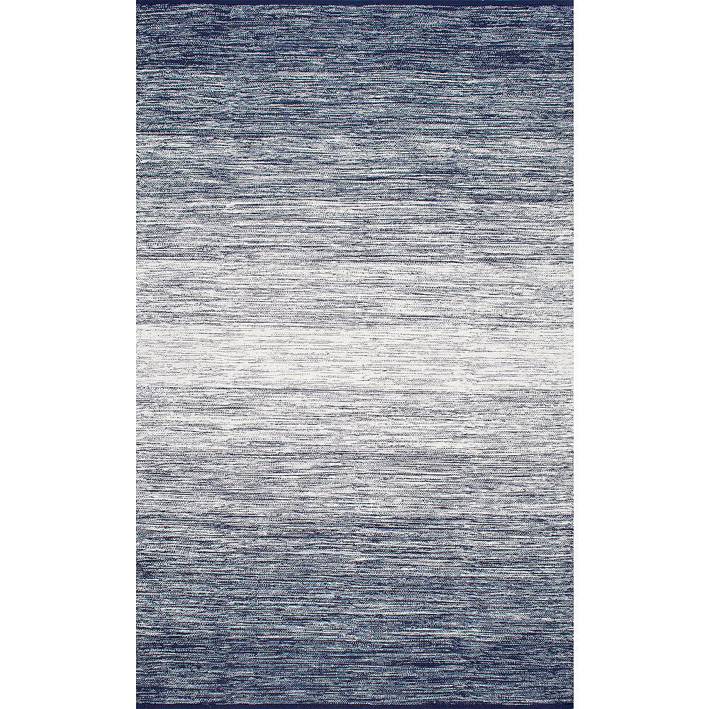 nuLOOM Cayla Flatweave Blue 5 ft. x 8 ft. Indoor Area Rug