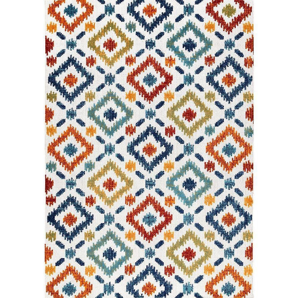 nuLOOM Tapis de Couloir Intérieur/Extérieur Labyrinth Multicolore 4 ft. x 6 ft.