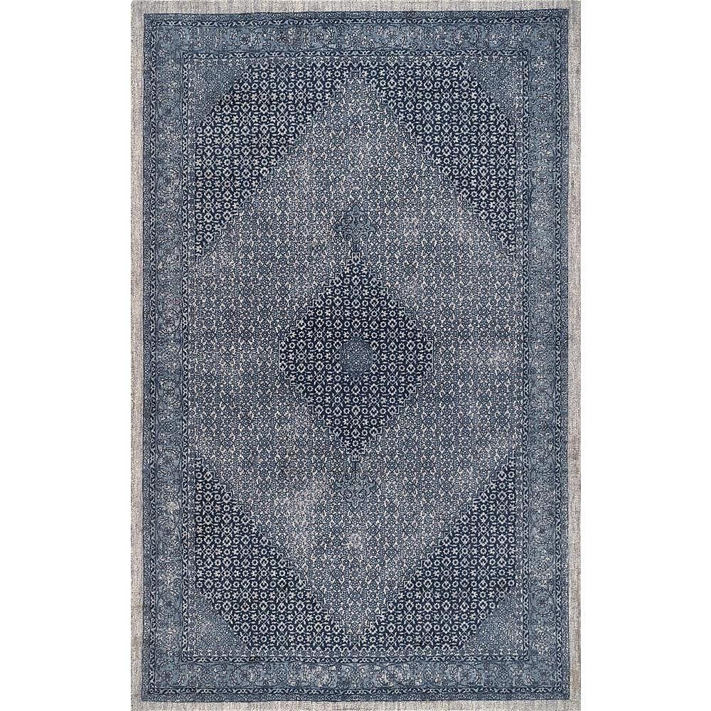 nuLOOM Vintage Reese Dark Blue 8 ft. 6-inch x 11 ft. 6-inch Indoor Area Rug
