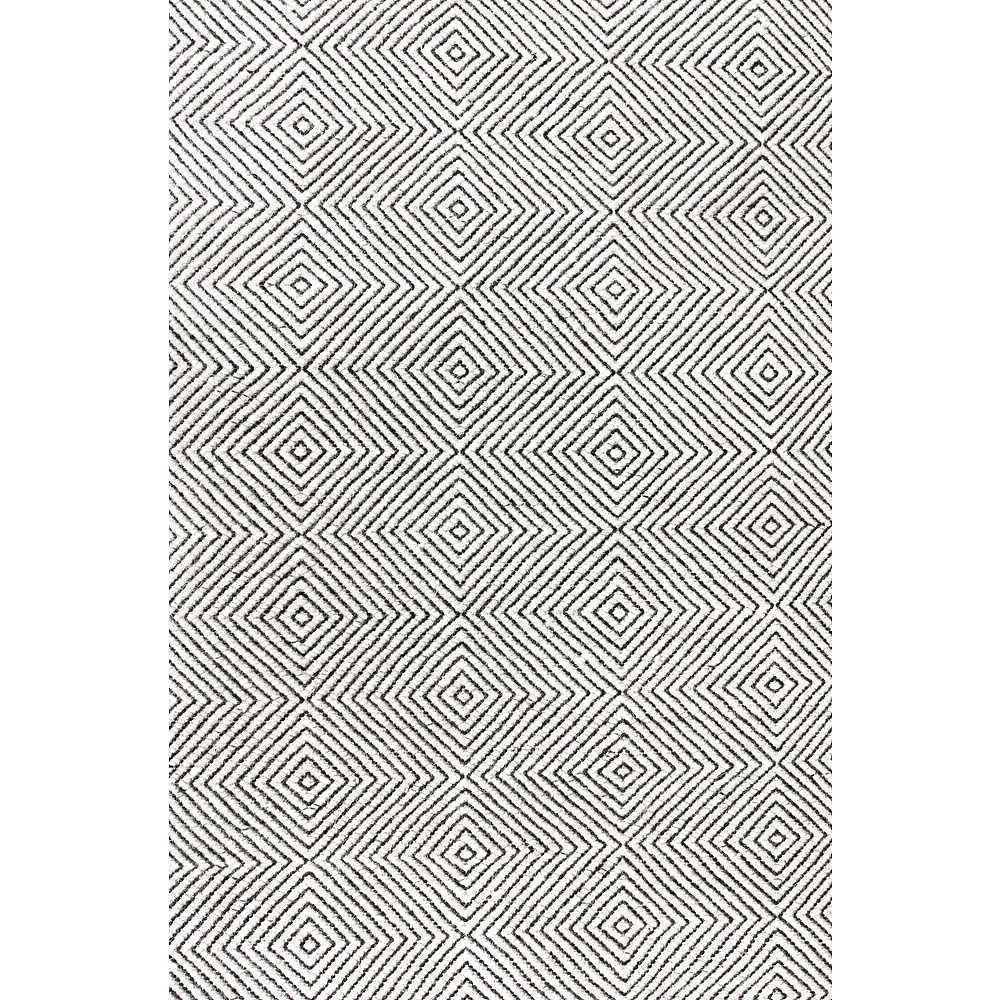 nuLOOM Tapis Tissé Main Ago Ivoire 4 ft. x 6 ft.