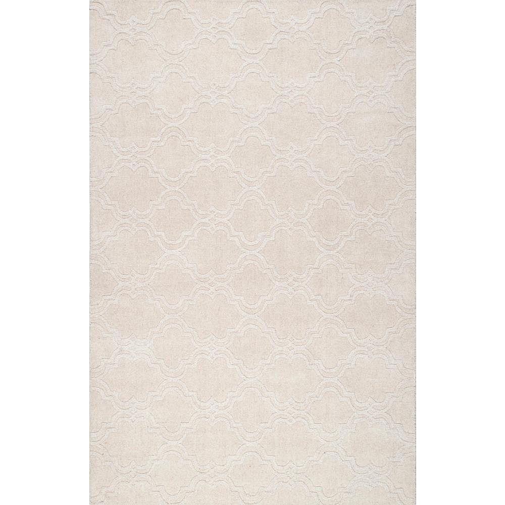nuLOOM Hand Tufted Wilhelmina Cream 5 ft. x 8 ft. Indoor Area Rug
