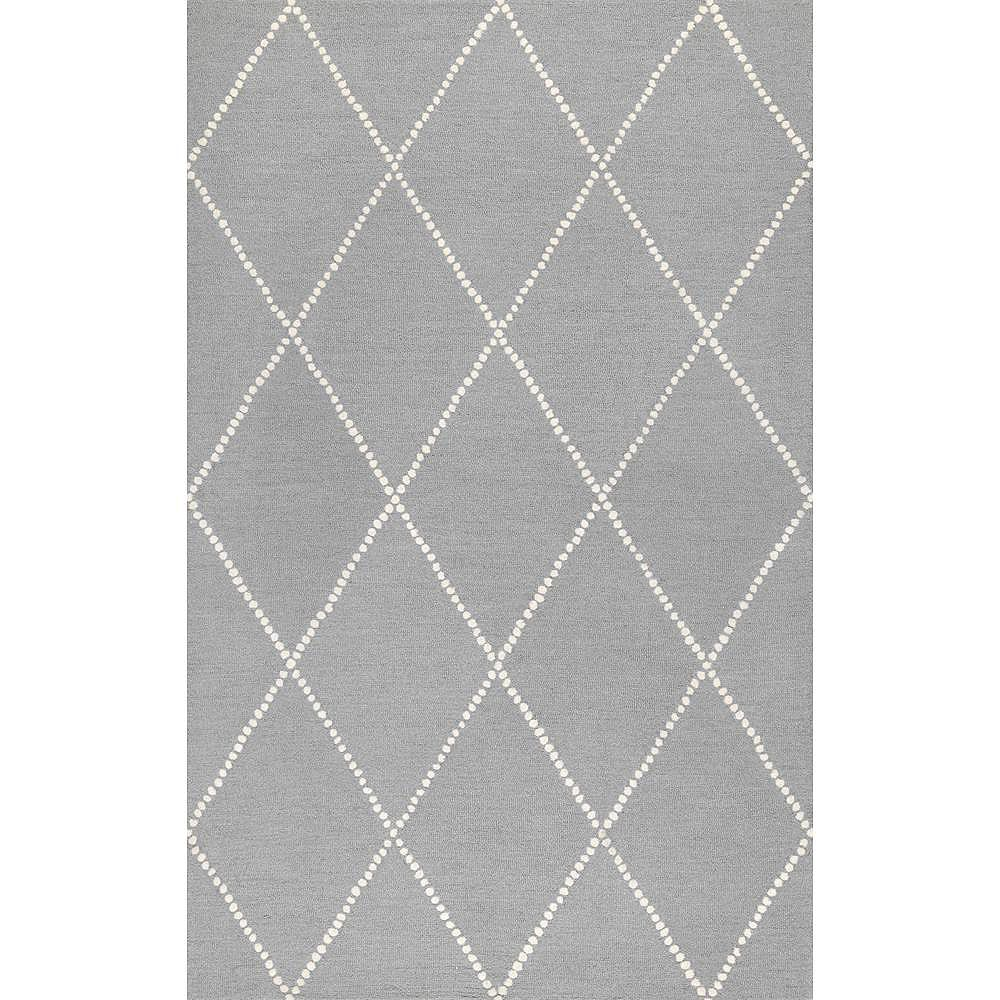 nuLOOM Hand Tufted Elvia Light Gray 5 ft. x 8 ft. Indoor Area Rug