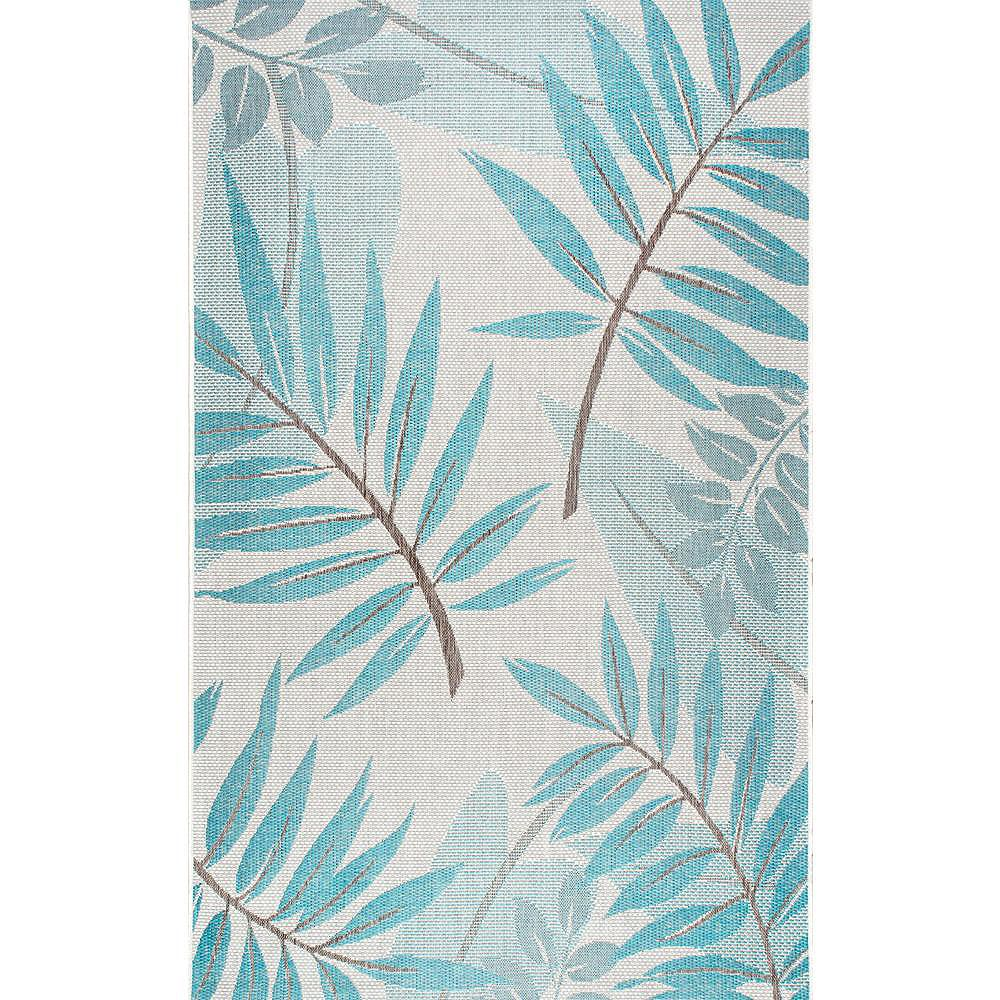 nuLOOM Tapis d'Extérieur Trudy Turquoise 8 ft. 6 in. x 12 ft. 2 in.