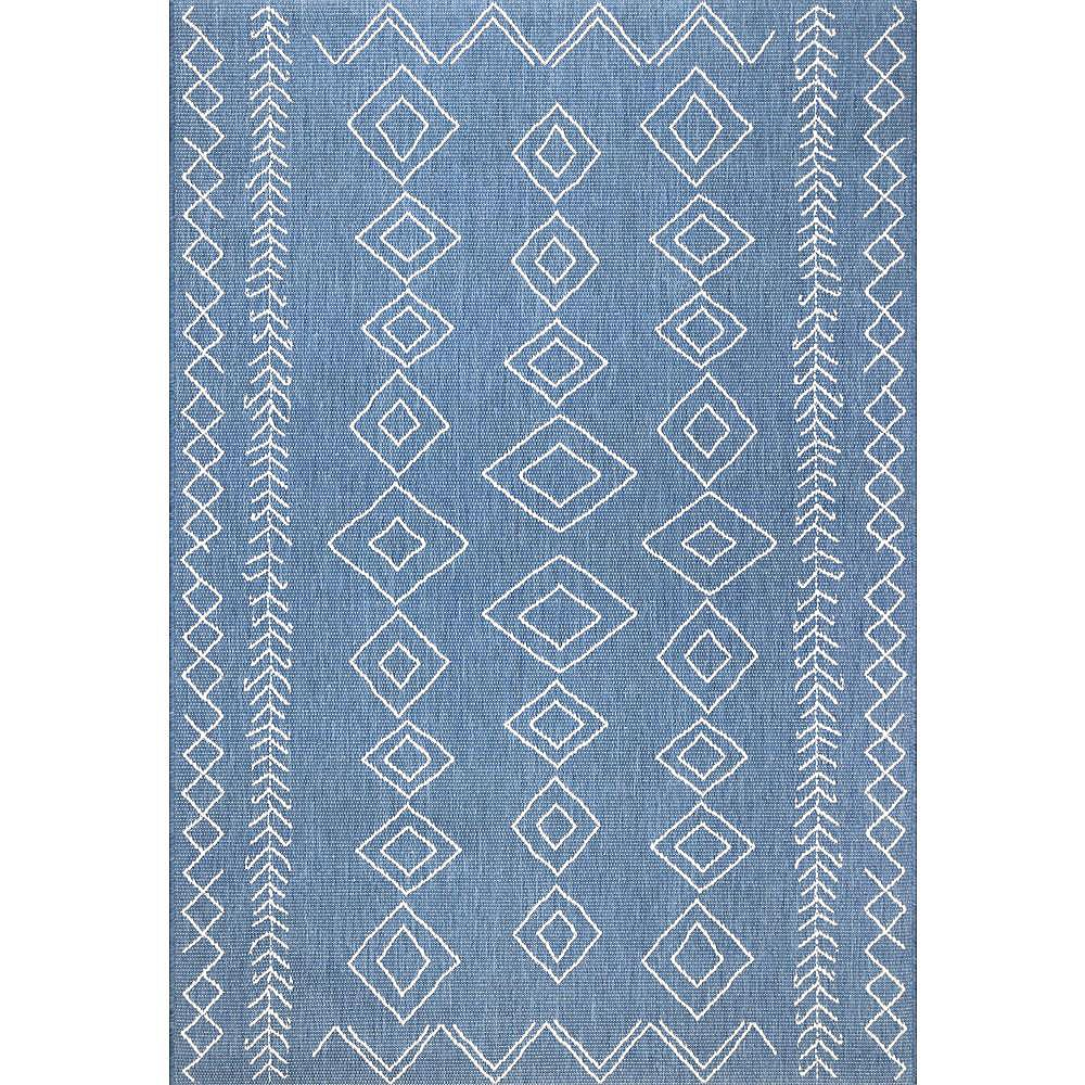 nuLOOM Serna Blue 10 ft. x 14 ft. Indoor/Outdoor Area Rug