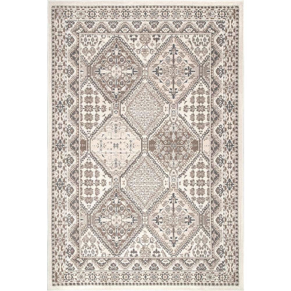 nuLOOM Vintage Tile Becca Beige 9 ft. x 12 ft. Indoor Area Rug