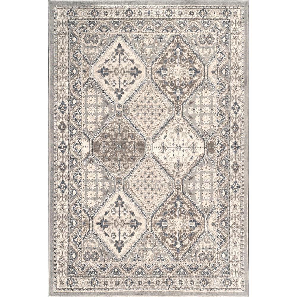 nuLOOM Vintage Tile Becca Gray 8 ft. x 10 ft. Indoor Area Rug