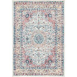 Traditional Medallion Verona Gold 5 ft. x 7 ft. 5-inch Indoor Area Rug