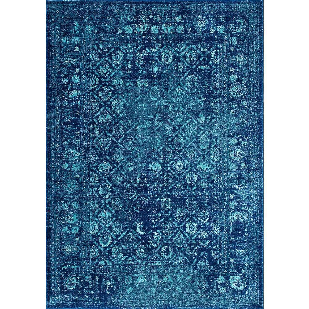 nuLOOM Herminia Vintage Trellis Blue 4 ft. x 6 ft. Indoor Area Rug