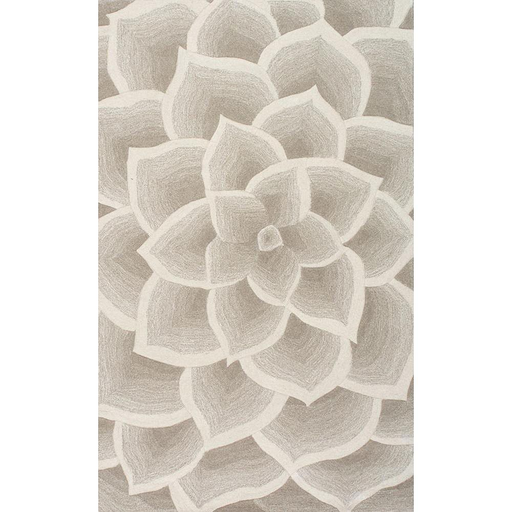 nuLOOM Hand Tufted Gol Ivory 7 ft. 6-inch x 9 ft. 6-inch Indoor Area Rug