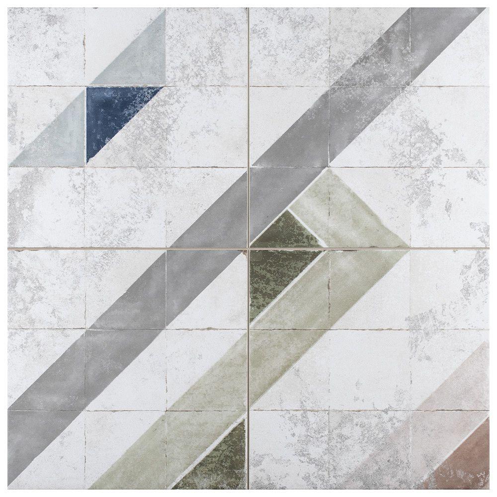 Merola Tile Échantillon - Carreau mural et de sol de porcelaine Kings Marais Colors, 8 7/8 po x 8 7/8 po