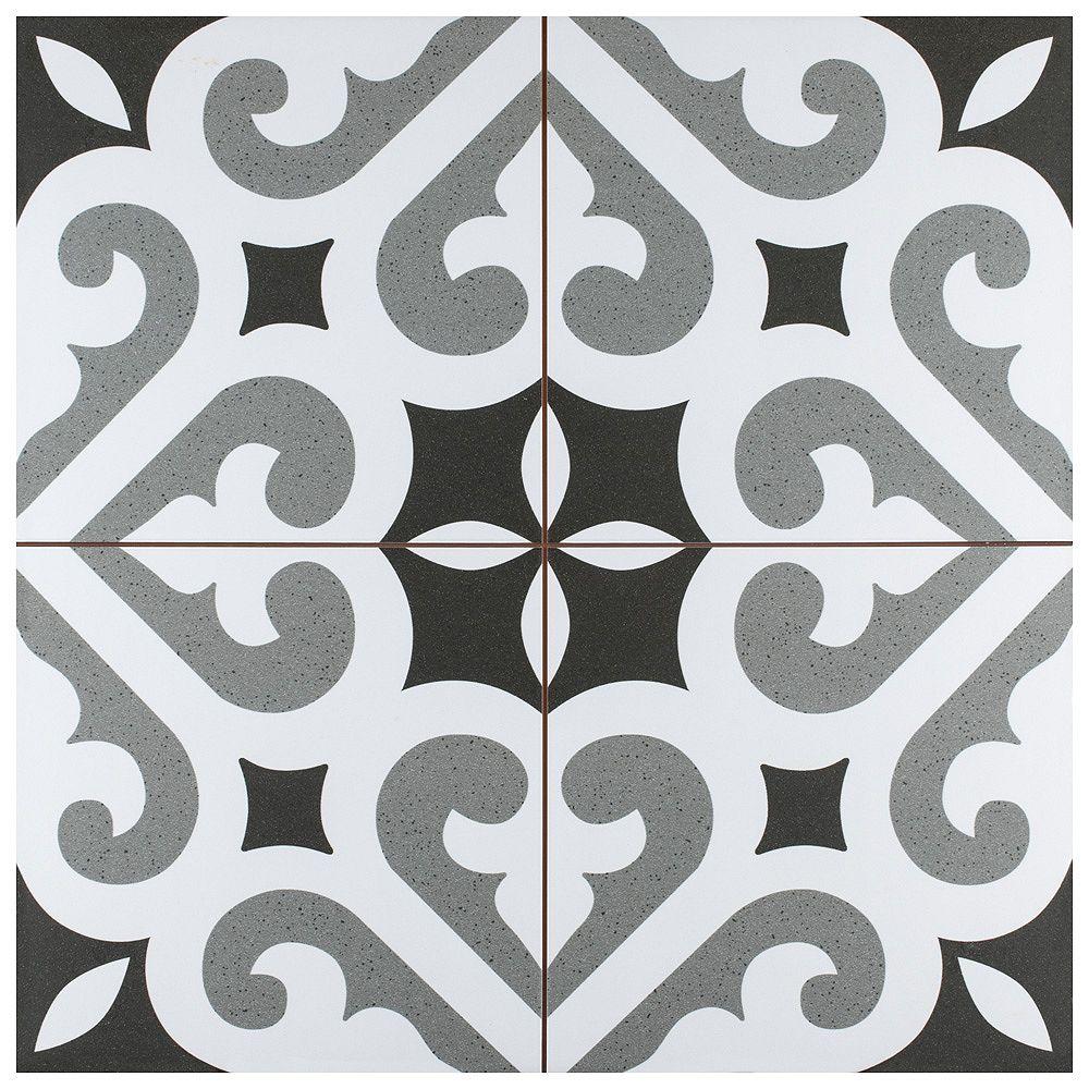 Merola Tile Sample - Thornbury 8-7/8-inch x 8-7/8-inch Ceramic Floor and Wall Tile