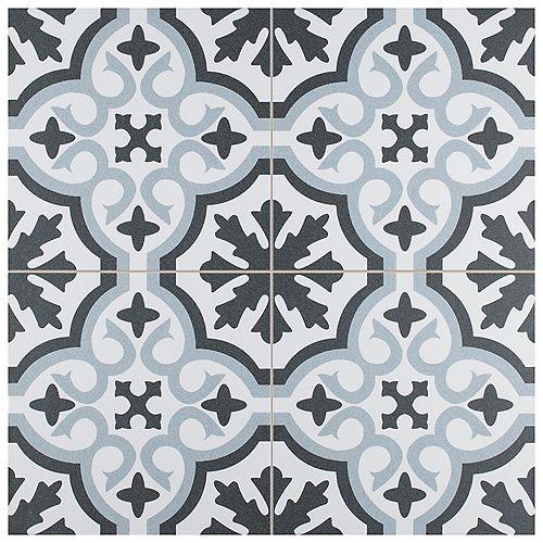 Merola Tile Berkeley Essence Sky 17-7/8-inch x 17-7/8-inch Porcelain Floor and Wall Tile (11.33 sf/ca)