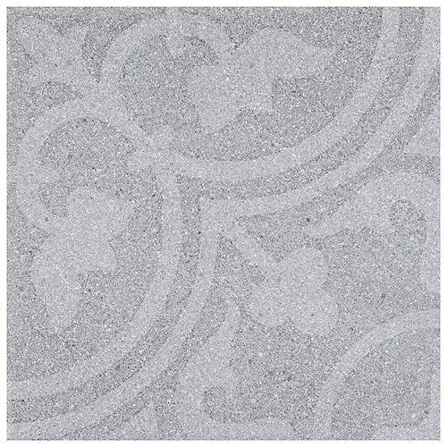 Merola Tile Sample - Forja Gris 9-7/8-inch x 9-7/8-inch Porcelain Floor and Wall Tile