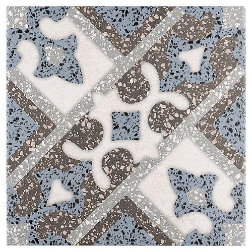 Merola Tile Sample - Atempo Palazzo Capri 9-7/8-inch x 9-7/8-inch Porcelain Floor and Wall Tile
