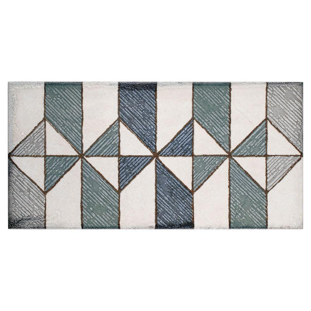 Merola Tile Sample - Essenza Valentina 5-7/8-inch x 11-7/8-inch Ceramic Wall Tile