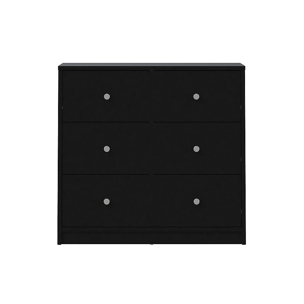 Tvilum Portland 3 Drawer Chest in Black