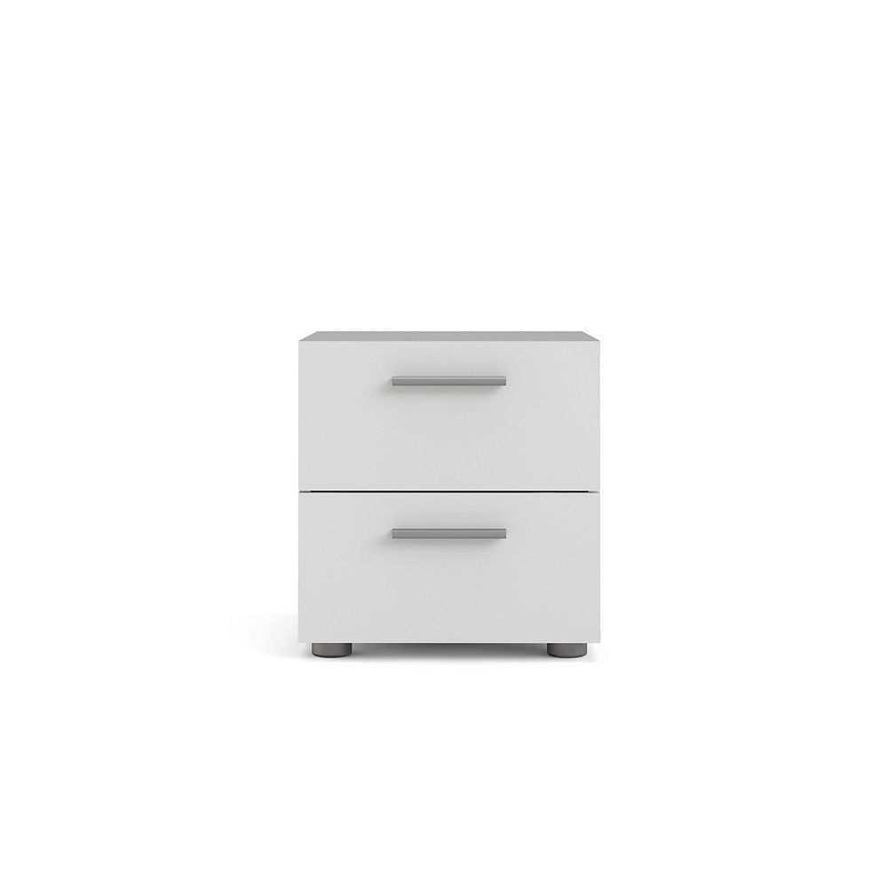 Tvilum Austin Chevet 2 tiroirs, Coloris Blanc